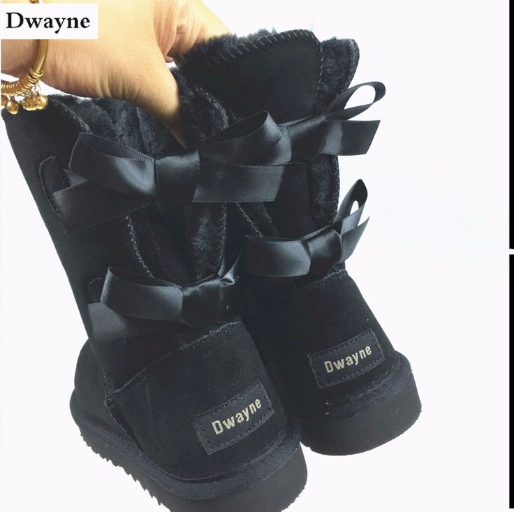 Free Shipping New Arrival 100% Real Fur Classic Mujer Botas Waterproof Genuine Cowhide Leather Snow Boots Winter Shoes for Women  Price: 40.00 USD