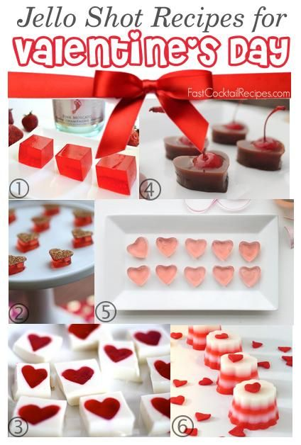 6 Jello Shot Recipes for Valentine's Day