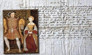 King Henry VIII and his wife Jane Seymour