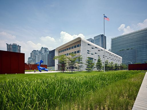 U.S. Consulate General in Guangzhou | SOM; Photo: Bruce Damonte | Archinect