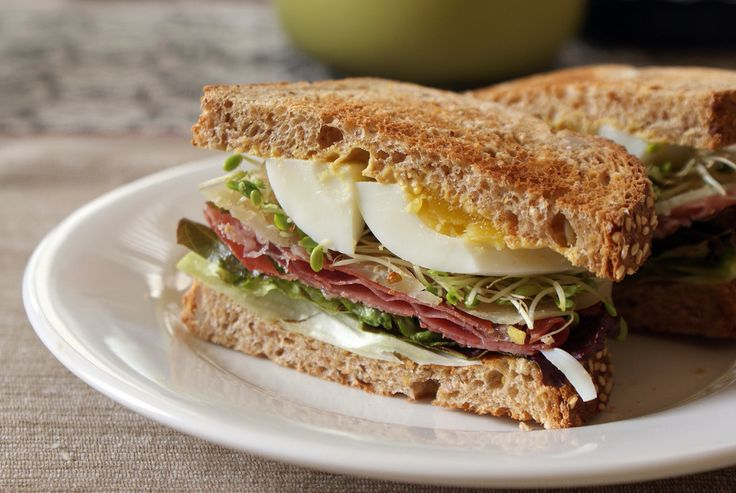 Ham and cheese, reinvented, with the addition of egg and sprouts plus more sandwiches that travel well