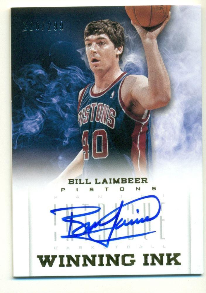 2012-13 Panini Intrigue Bill Laimbeer Pistons Winning Ink Auto 220/299