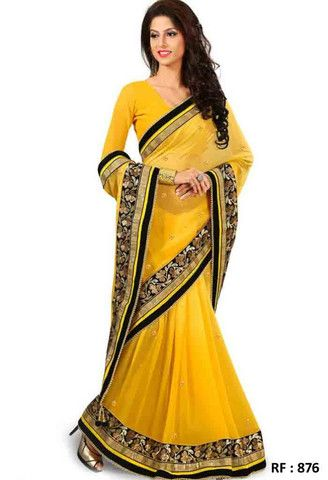 Yellow Viscose Designer Saree..@ fashionsbyindia.com #designs #indian #fashion #womens #style #cloths #clothes #stylish #casual #fashionsbyindia #punjabi #suits #wedding #saree #chic #elegance #beauty #outfits #fantasy #embroidered #dress #PakistaniFashion #Fashion #Longsuit #FloralEmbroidery #Fashionista #Fashion2015 #IndianWear #WeddingWear #Bridesmaid #BridalWear #PartyWear #Occasion #OnlineShopping