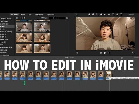 61) How to Use iMovie For Beginners! (Basic Video Editing) - YouTube