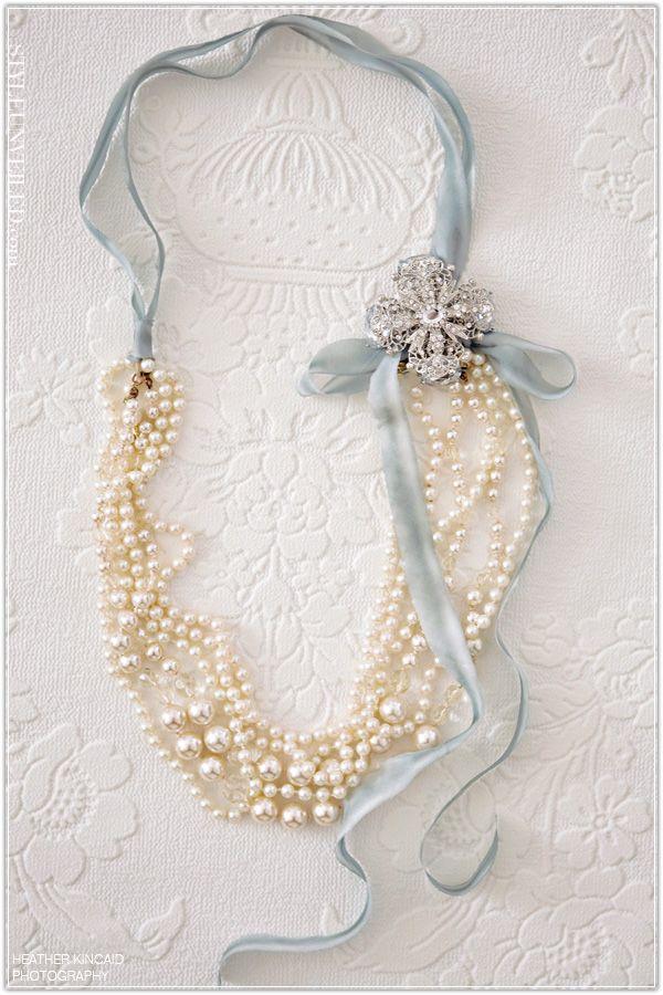 Pearls and Ribbon...