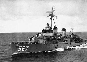 USS Watts (DD-567) Fletcher-class destroyer named for Captain John Watts, (1778-1823). Pic is 1955.