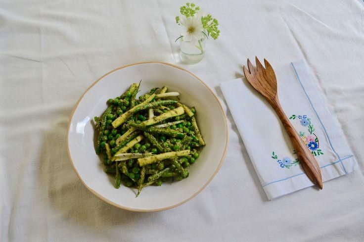 Pecan Nut Pesto Greens