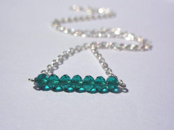 Friendship NecklaceThiny bead Necklace.Teal by StunningGemsJewelry