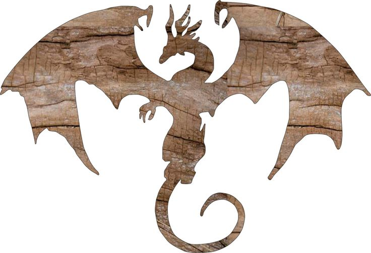 Dragon Wooden Cutout Silhouette Shape Wall Hanging