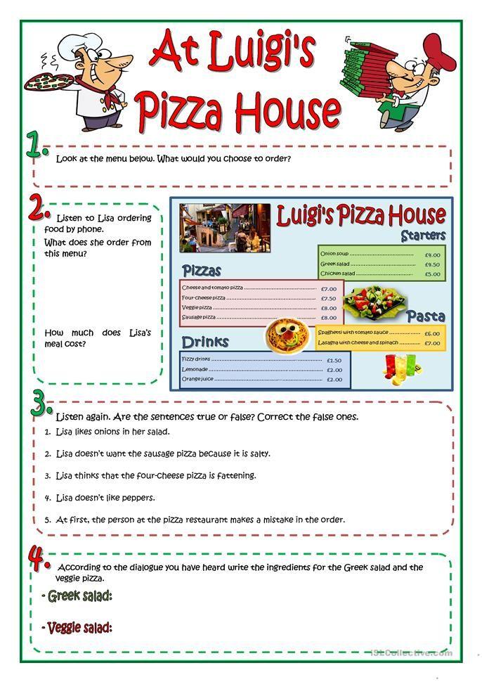 AT LUIGI'S PIZZA HOUSE