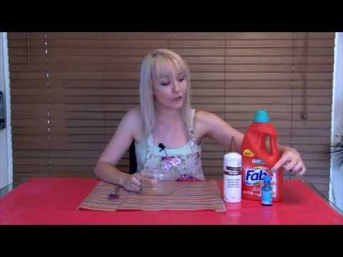 How To Make Slime with Wood Glue & Laundry Liquid - No Borax - YouTube