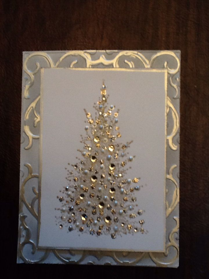 Christmas 2014 - Trio of Trees with Penny Black 4272k a splash of winter