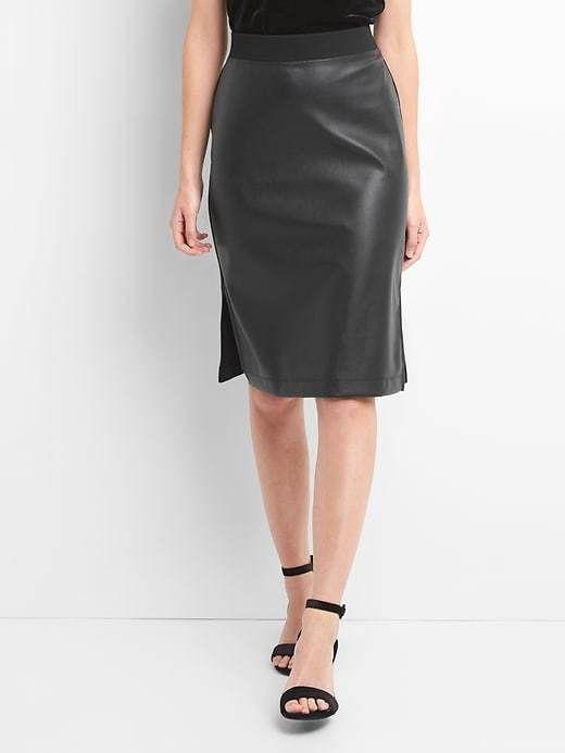 Gap Faux-leather pencil skirt