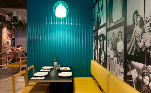 pizzeria in perth is situated at the William Street in Perth, Austraila. The 145 Sq. metre space is designed by Salvatore Fazzari of design store Mobilia