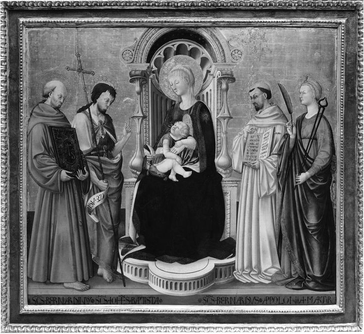 Neri di Bicci - Virgin and Child Enthroned with Four Saints - Walters 37700 - Category:Neri di Bicci - Wikimedia Commons
