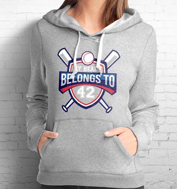 My Heart Belongs To (Baseball), Tees and Hoodies that can be personalized with your player's number. Show your baseball mom pride!