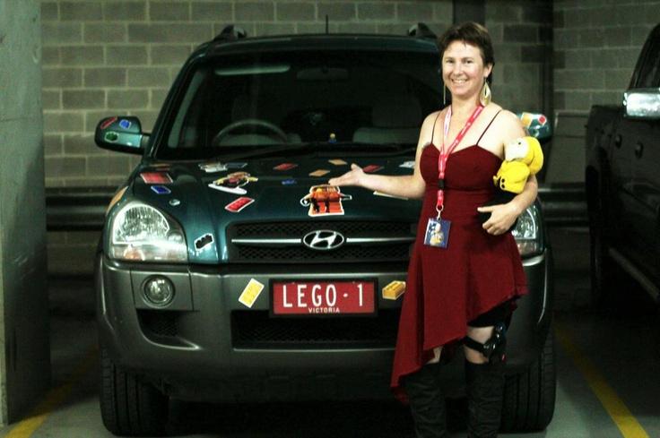 At Supanova Sydney 2012 - checking out I'm Rick James Bricks' car. Photo by Carol Shearman.