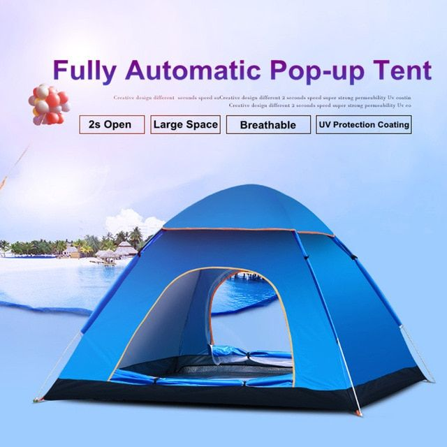 Camping Tent Uv Protection 2 Doors 2 3 Person Automatic Quick Up