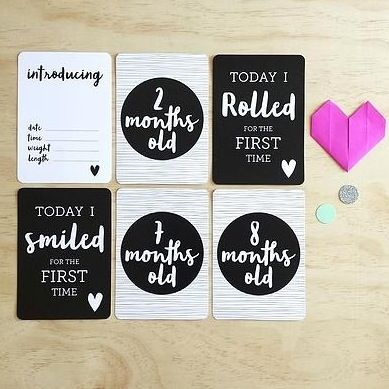 Image of Baby Milestone Cards by Leni + co (Dreamer)