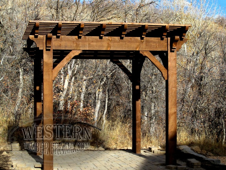 424 best free standing pergolas images on pinterest free for Rustic gazebo kits