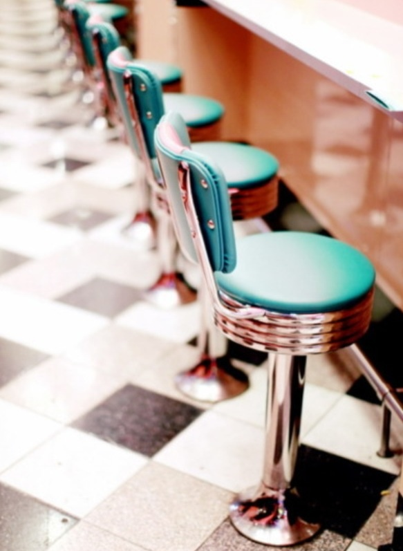 retro chairs and tile :)