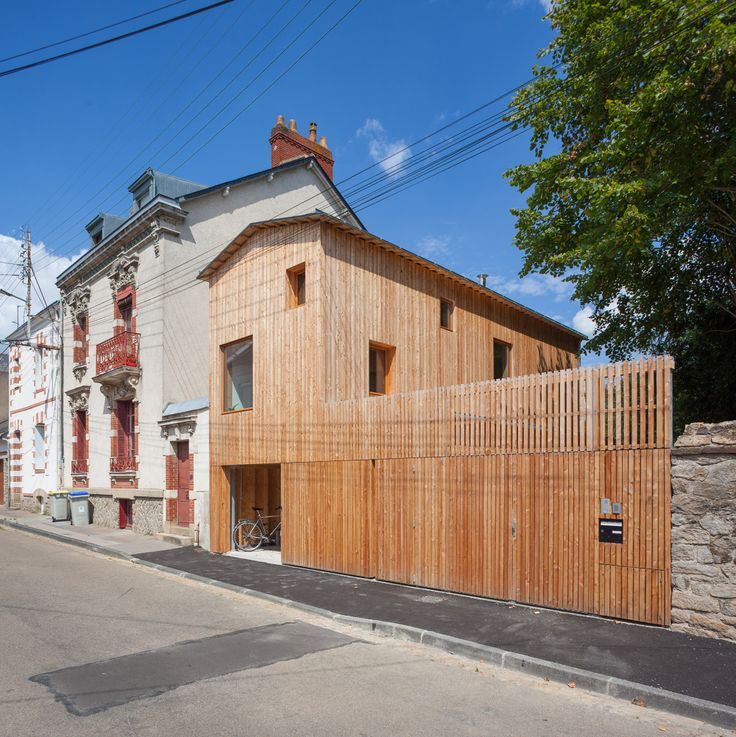 203 best CLÔTURE images on Pinterest Privacy screens, Facade and - maison charpente metallique prix