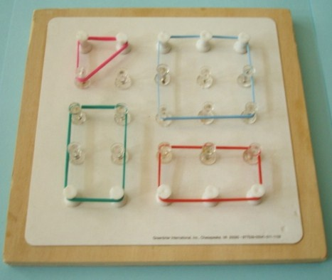 Learning Ideas - Grades K-8: Geometry: 2-D Shapes with Geoboards