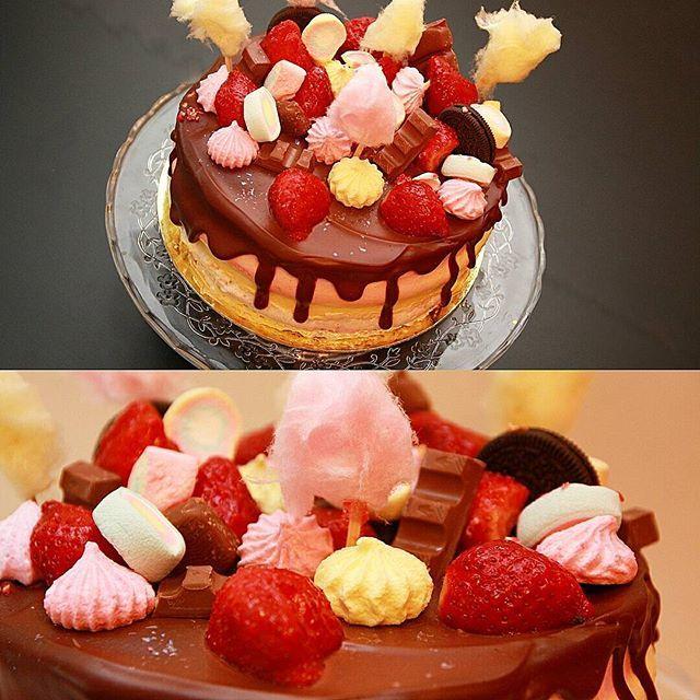 Торт на день рождения для одной маленькой девочке) бисквит виктория…