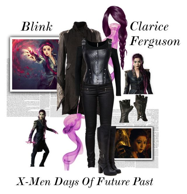 """Clarice Ferguson ""Blink"" - X-Men : Days Of Future Past"" by gone-girl ❤ liked on Polyvore featuring Le Cuir Perdu, Free People, Forever 21, marvel, blink, xmen, daysoffuturepast, ClariceFerguson and xmendaysoffuturepast"