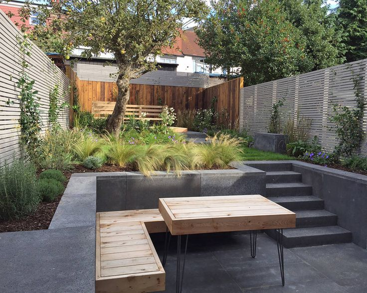 this creation shows us how beautifully lush a small garden area can become thanks to the right design and materials and plants of course