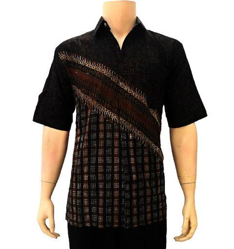 baju batik pria modern parang