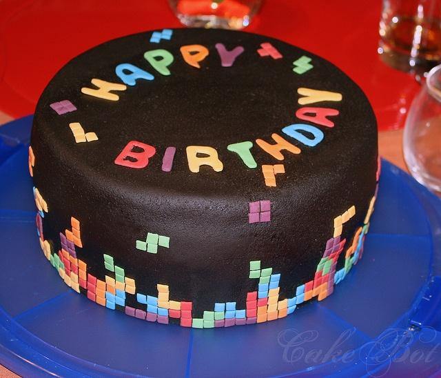Best Birthday Cake Ideas Images On Pinterest Cake Ideas - Tetris birthday cake