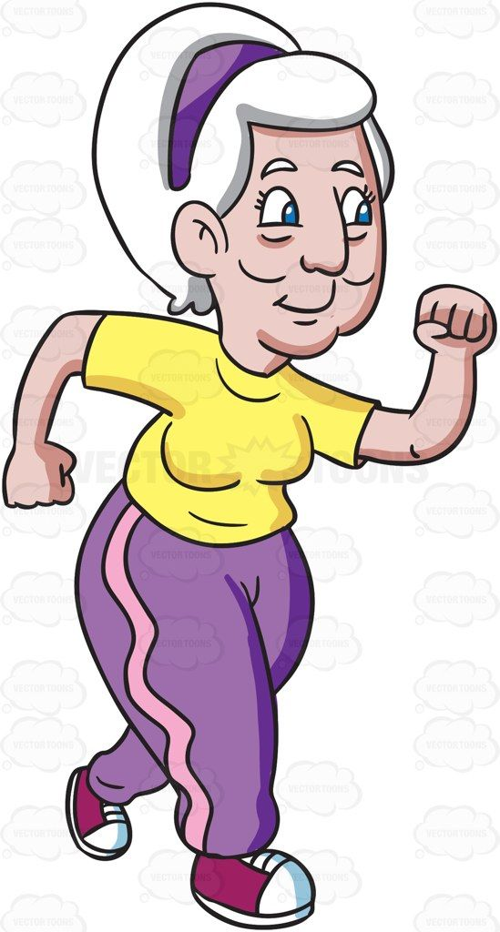 A grandma takes a sprint #cartoon #clipart #vector #vectortoons #stockimage…