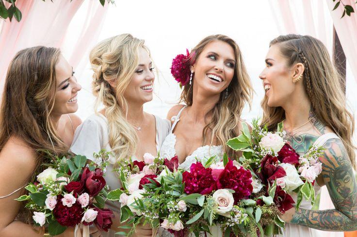 Audrina Patridge Wedding with her boho chic bridesmaids