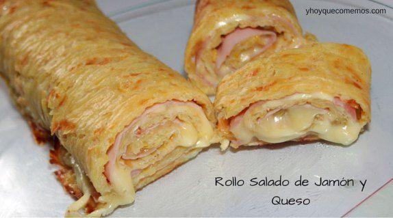 Rollo Salado de Jamón y Queso | Recetas | Y hoy que comemos