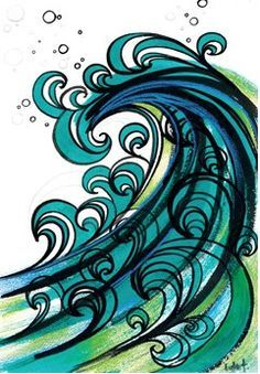 ocean waves drawing - Google Search                                                                                                                                                      More