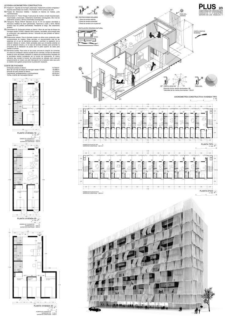 'PLUS' Propuesta para el Concurso Foro Hábitat Sostenible EMVS Madrid | accésit ediciones de arquitectura