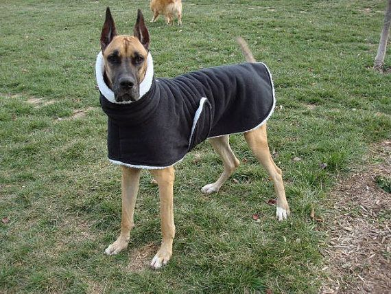 Custom Fleece and Sherpa Dog Coat XL or XXL with or by