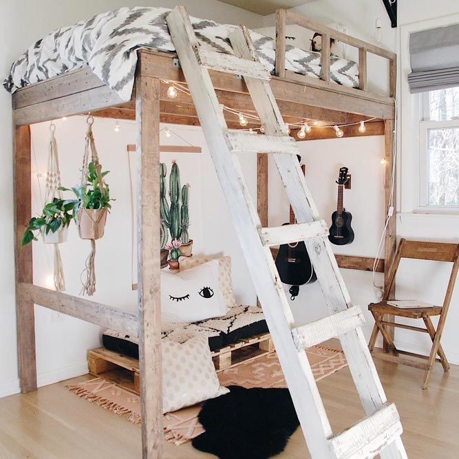 24 Loft Bed Examples That Will Add Peculiar Charm To Your Interior Diy Loft Bed Loft Bed Plans Modern Loft Bed