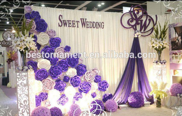Foam Paper Flower Wedding Backdrop Decoration Paper
