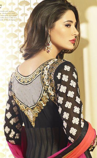 Nargis Fakri Black Anarkali – GET STYLE AT HOME