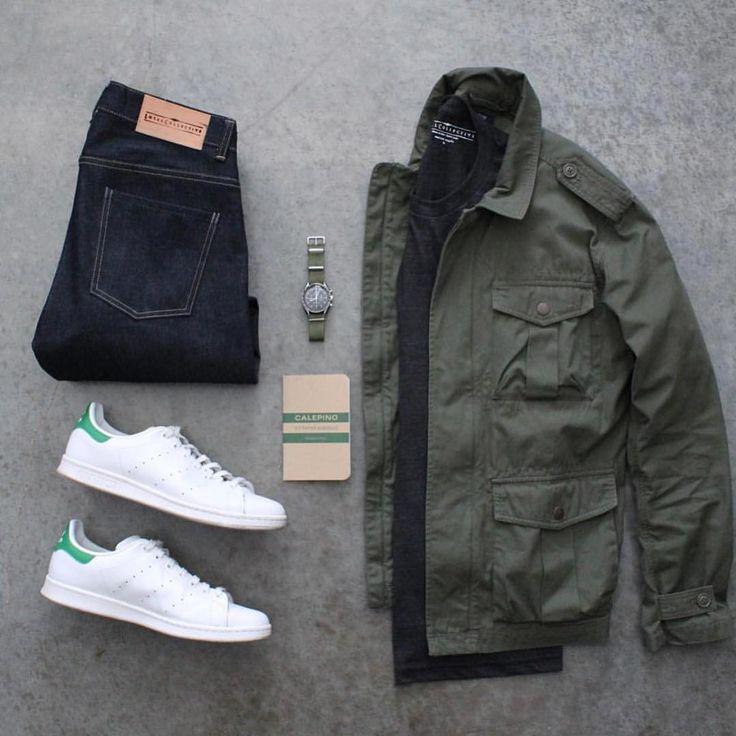 Jacket: @jcrew Shirt/Denim: @loyalcollective Shoes: @adidasoriginals Watch: @omega