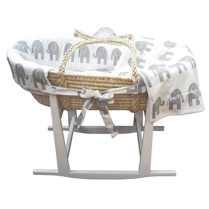 Elle Elephant Moses Basket Set by Rockers by Richard, you can buy a rocker too?