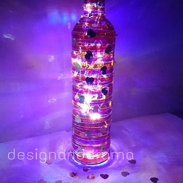 #india #interiors #fashion #girl #glasspainting #wine #winebottle #Australia #Brisbane #colour #light #bohochic #boho #lamp #vase #home #homedecor #productphotography #productdesign #recycle #retro #love #red #heart