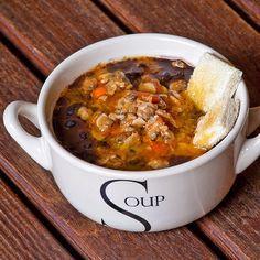 Zuppa di fagioli neri e vongole di Claudio