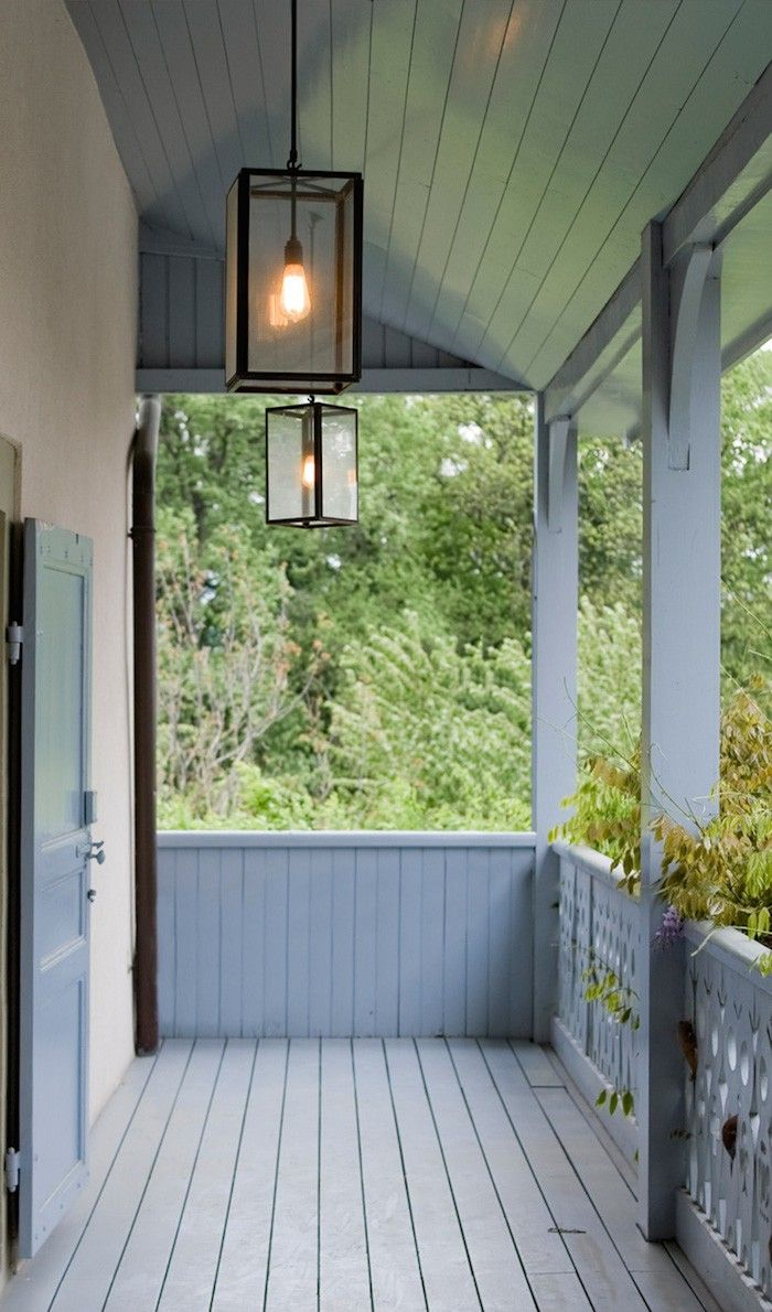simple boxy porch lantern
