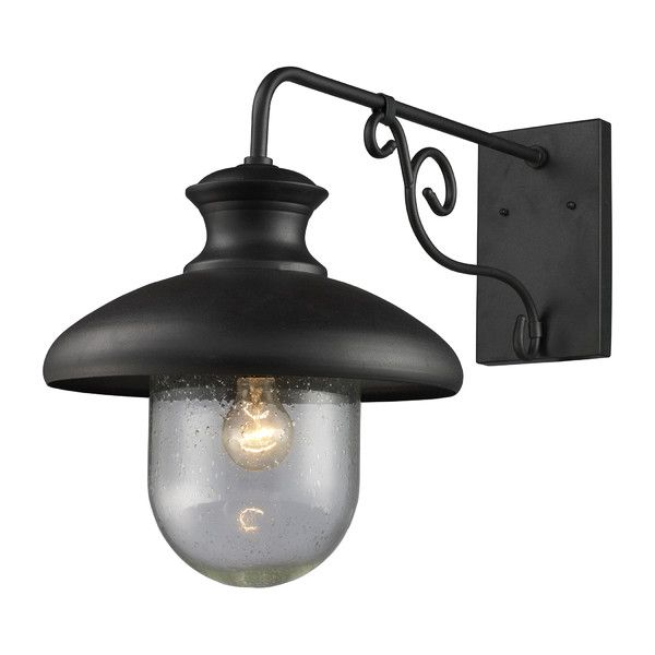 Dexter Outdoor Wall Lantern Dawn to Dusk Style 18Hx13Wx26D This would be perfect for the side of the house above the long uphill driveway. Two of them between floor 2 and 3 on side of the house? Joss & Main