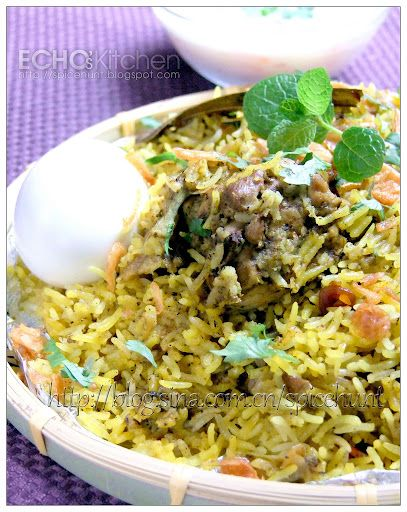 Echo's Kitchen: Hyderabadi Chicken Dum Biryani