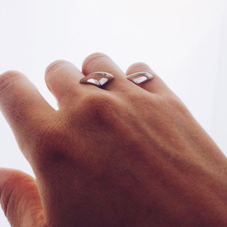 Mistril ring. Slices through the fading sky. Made from solid non-tarnishing stirling silver. Artisan crafted unique statement jewellery, designed and made in Australia
