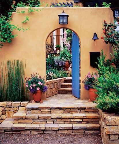 Southwestern Adobe Style Interior Entry Stairway Accent Wall: 70 Best Southwest Decorating Ideas Images On Pinterest